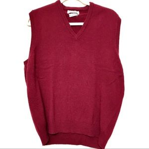 Nordstrom Lambswool by Alan Paine Red Vest Size 44